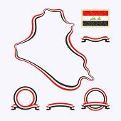 picture of iraq  - Outline map of Iraq - JPG