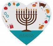foto of hamsa  - Vector illustrations of famous symbols for the Jewish Holiday  Hanukkah - JPG
