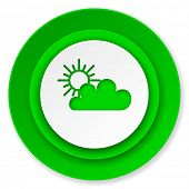 cloud icon, waether forecast sign  poster