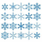 foto of x-files  - Christmas blue snowflakes on the white background - JPG