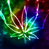 picture of psychodelic  - illustration of the abstract psychedelic smoking marijuana - JPG