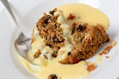 picture of custard  - College pudding - JPG