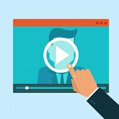 picture of online education  - Vector webinar concept in flat style  - JPG