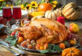 stock photo of thanksgiving  - Thanksgiving dinner - JPG