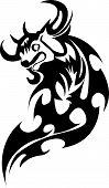 picture of bull head  - Tattoo design of bull - JPG