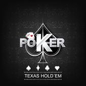 picture of gambler  - Poker vector illustration on a dark background with card symbol - JPG