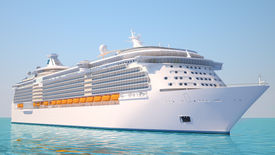 foto of passenger ship  - A very realistic view 3D illustration of a Cruise Ship similar to the Freedom of the Sea ship - JPG
