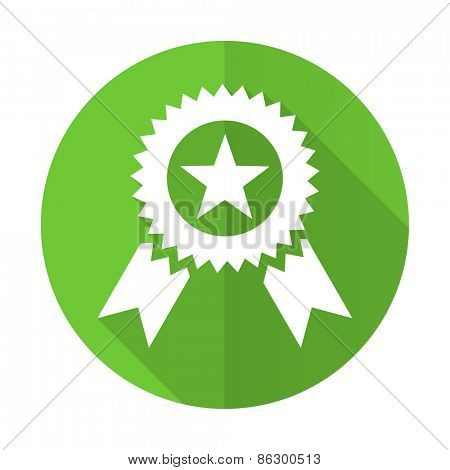 award green flat icon prize sign