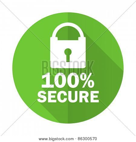 secure green flat icon