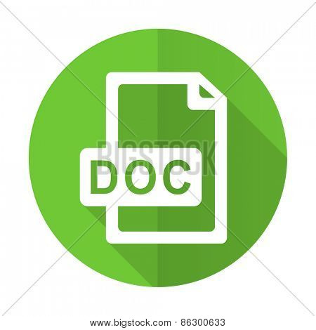 doc file green flat icon