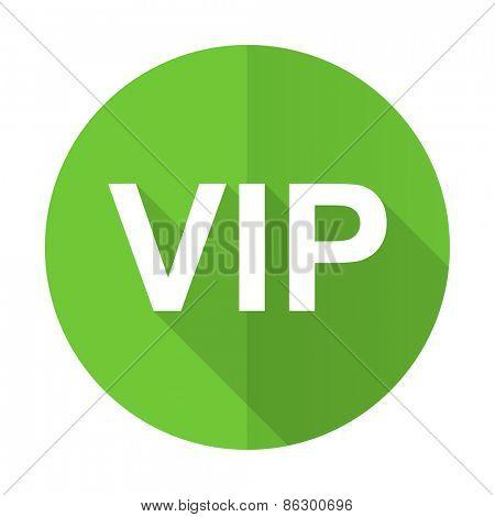 vip green flat icon