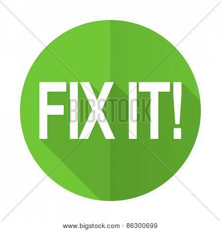 fix it green flat icon