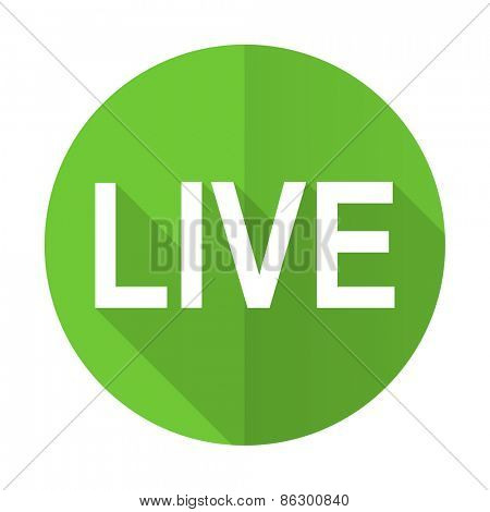 live green flat icon