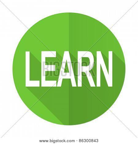 learn green flat icon