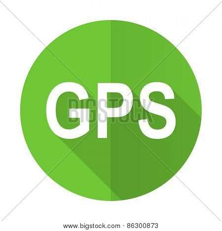 gps green flat icon