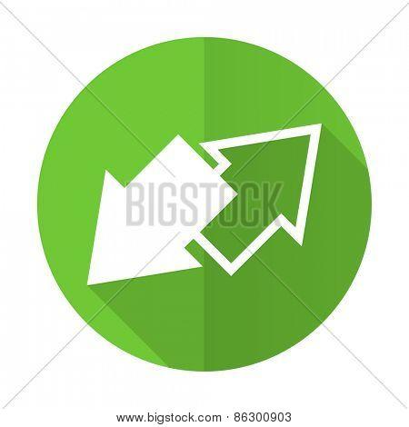 exchange green flat icon