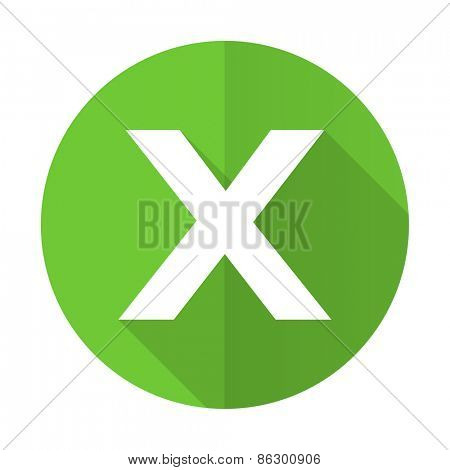 cancel green flat icon