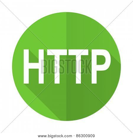 http green flat icon