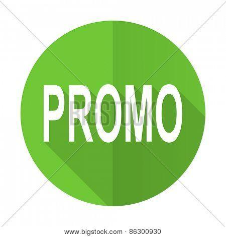 promo green flat icon