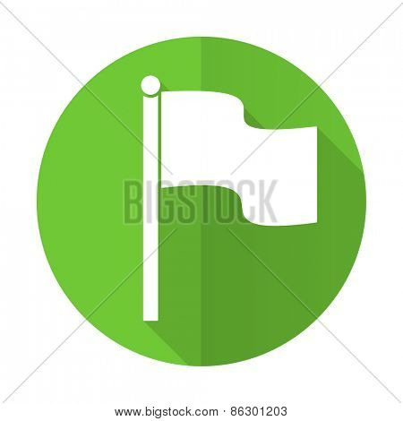 flag green flat icon