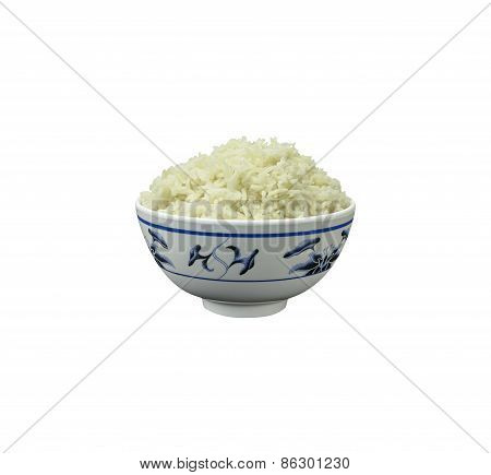 Bowl Of Natural Organic Rice With Clipping Path