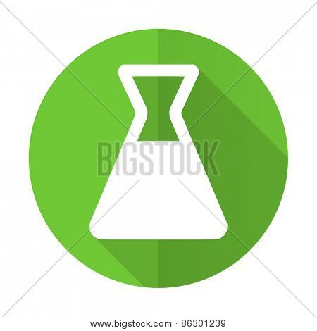 laboratory green flat icon