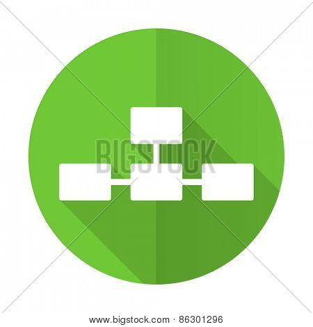 database green flat icon