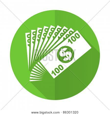 money green flat icon cash symbol