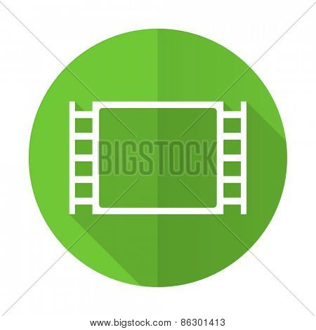 movie green flat icon