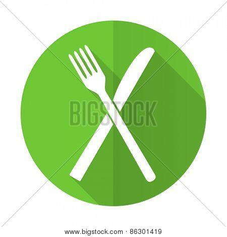 eat green flat icon restaurant symbol