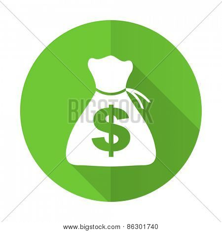 money green flat icon