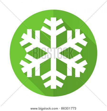 snow green flat icon air conditioning sign