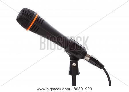 Black Microphone With Cable