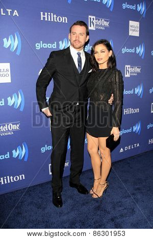 LOS ANGELES - MAR 21:  Channing Tatum, Jenna Dewan-Tatum at the 26th Annual GLAAD Media Awards at the Beverly Hilton Hotel on March 21, 2015 in Beverly Hills, CA