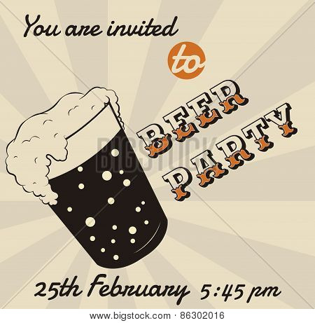 Beer Glass Invitation
