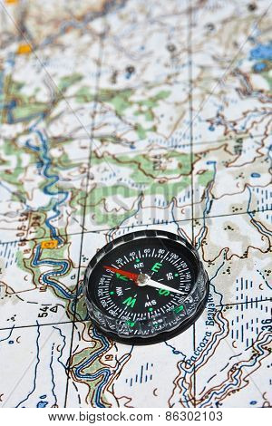 The Magnetic Compass And Topographic Map.