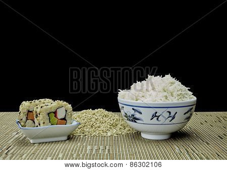 Sushi And Natural Organic Brown Rice