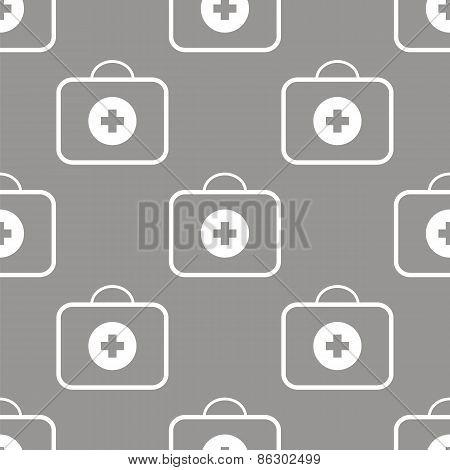 Medic bag seamless pattern