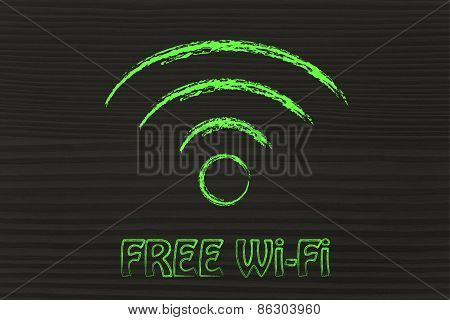 Illustration Of The Wi-fi Signal Symbol