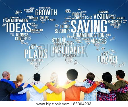 Saving Finance Global Finance World Economy Concept