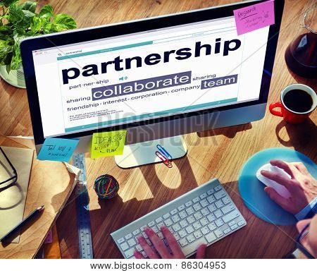 Partnership  Team Togetherness Browsing Concept