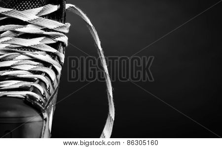 Half of a hockey skate