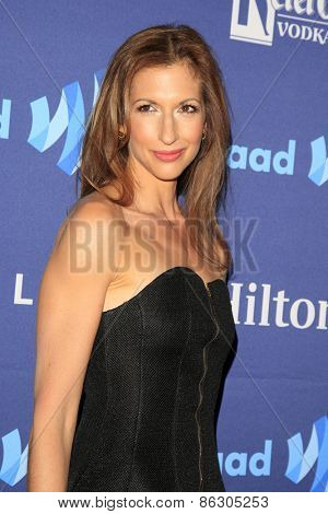 LOS ANGELES - MAR 21:  Alysia Reiner at the 26th Annual GLAAD Media Awards at the Beverly Hilton Hotel on March 21, 2015 in Beverly Hills, CA