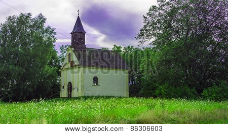 A beautiful little church in the field