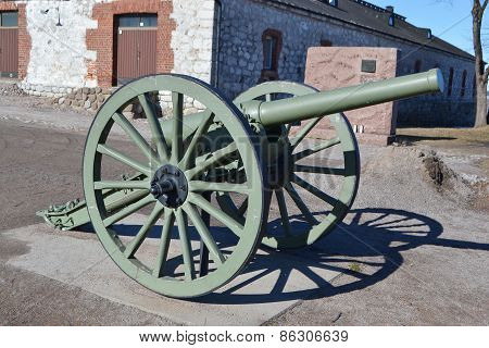 Antique Cannon In Lappeenranta.