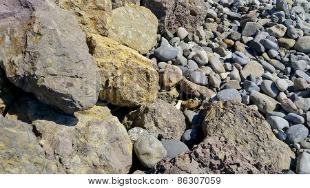 Beach Rocks and Pebbles, Close Up