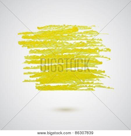 Yellow Chalk Strokes