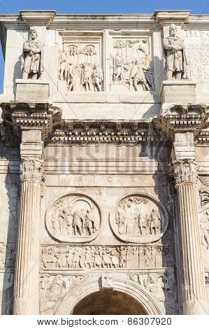 Rome, Italy - January 21, 2010: Arch Of Constantine