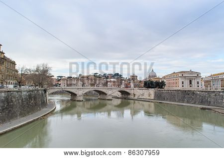 Rome, Italy - January 27, 2010: View Of Rome