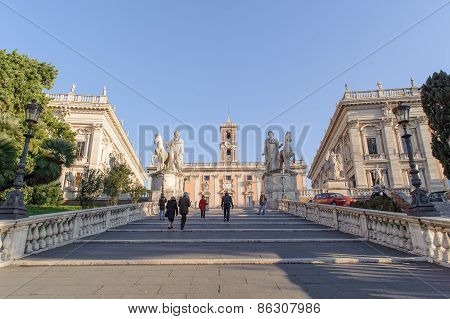 Rome, Italy - January 27, 2010: Cordonata